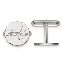 NHL Licensed Washington Capitals Cuff Links Sterling Silver