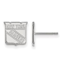 NHL Licensed New York Rangers Stud Earrings Sterling Silver