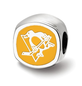 NHL Licensed Pittsburgh Penguins Sterling Silver Bead Charm