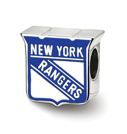 NHL Licensed New York Rangers Sterling Silver Bead Charm