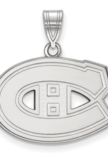 NHL Licensed NHL Licensed (Medium) Montreal Canadiens 10K White Gold Pendant