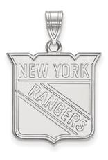 NHL Licensed NHL Licensed (Large) New York Rangers 10K White Gold Pendant
