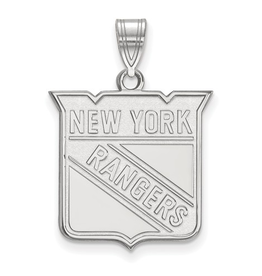 NHL Licensed NHL Licensed (Large) New York Rangers 10K White Gold Pendant