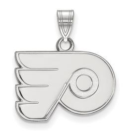NHL Licensed Philadelphia Flyers Pendant (18mm) 10K White Gold