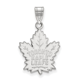 NHL Licensed NHL Licensed Maple Leafs Pendant 10K White Gold (17mm)