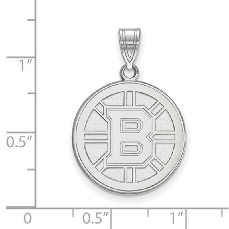 NHL Licensed NHL Licensed (Large) Boston Bruins 10K White Gold Pendant