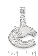 NHL Licensed NHL Licensed (Large) Vancouver Canucks 10K White Gold Pendant