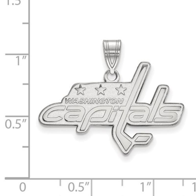 NHL Licensed Washigton Capitals Pendant (30mm)10K White Gold