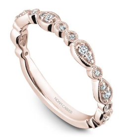 Matching Rose Gold Diamond Band to B204-01RM-100A