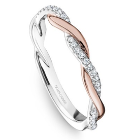 Matching Rose and White Gold Diamond Band to R053-01WRA