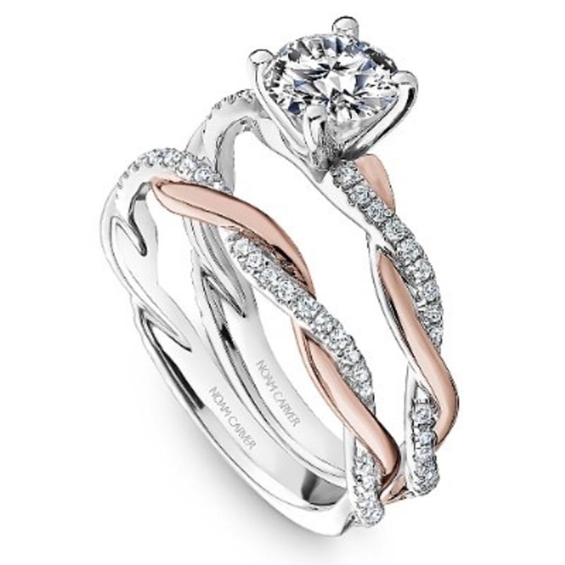 Noam Carver Noam Carver Matching Rose and White Gold Diamond Band to R053-01WRA