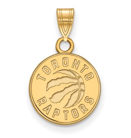 NBA Licensed Toronto Raptors Pendant (12mm) Yellow Gold