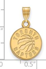 NBA Licensed Toronto Raptors Pendant (12mm) Yellow Gold