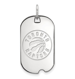 NBA Licensed Toronto Raptors Dog Tag Sterling Silver