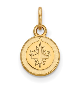 NHL Licensed Winnipeg Jets (9mm) 10K Yellow Gold