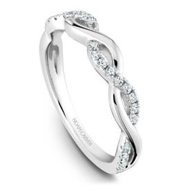 14K White Gold Diamond Matching Band to B185-02A
