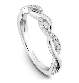 Noam Carver 14K White Gold Diamond Matching Band to B185-02A