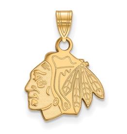 NHL Licensed NHL Licensed (Small) Chicago Blackhawks 10K Yellow Gold Pendant