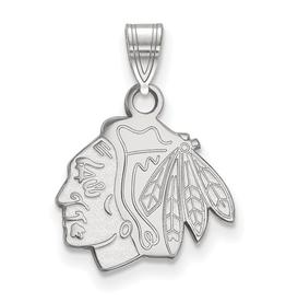 NHL Licensed NHL Licensed (Small) Chicago Blackhawks Sterling Silver Pendant