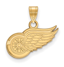 NHL Licensed Detroit Red Wings Pendant (15mm) 10K Yellow Gold