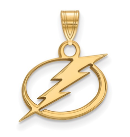 NHL Licensed Tampa Bay Lightning Pendant (15mm) 10K Yellow Gold
