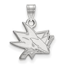 NHL Licensed NHL Licensed (Small) San Jose Sharks Sterling Silver Pendant