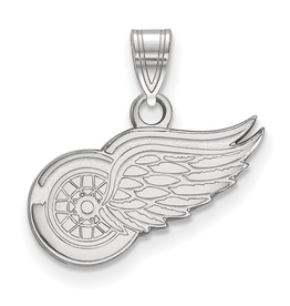 NHL Licensed Detroit Red Wings Pendant (15mm) Sterling Silver