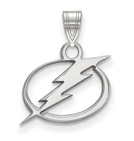 NHL Licensed Tampa Bay Lightning Pendant (15mm) Sterling Silver