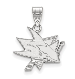 NHL Licensed San Jose Sharks Pendant (18mm) Sterling Silver