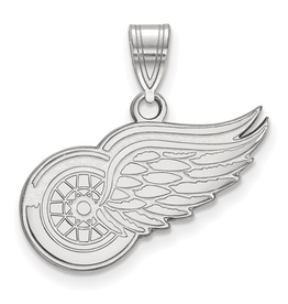 NHL Licensed Detroit Red Wings Pendant (22mm) Sterling Silver