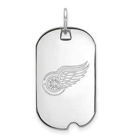 NHL Licensed Detroit Red Wings Dog Tag Sterling Silver