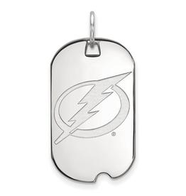 NHL Licensed Tampa Bay Lightning Dog Tag Sterling Silver