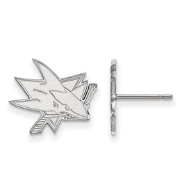 NHL Licensed San Jose Sharks Post Earrings Sterling Silver