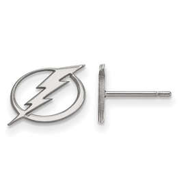 NHL Licensed Tampa Bay Lightning Post Earrings Sterling Silver