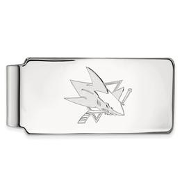 NHL Licensed San Jose Sharks Sterling Silver Money Clip