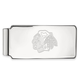 NHL Licensed Chicago Blackhawks Sterling Silver Money Clip