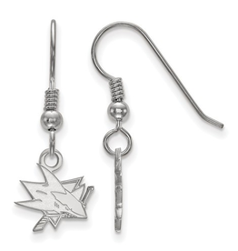 NHL Licensed San Jose Sharks Dangle Earrings Sterling Silver