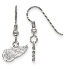 NHL Licensed Detroit Red Wings Dangle Earrings Sterling Silver