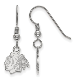 NHL Licensed Chicago Blackhawks Dangle Earrings Sterling Silver
