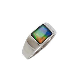 Korite Korite Ammolite Martin Mens Sterling Silver Ring