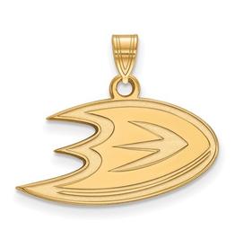 NHL Licensed Anaheim Ducks Pendant (24mm) 10K Yellow Gold