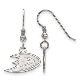 NHL Licensed Anaheim Ducks Dangle Earrings Sterling Silver