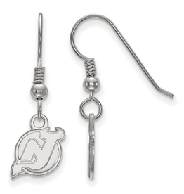 NHL Licensed New Jersey Devils Dangle Earrings Sterling Silver