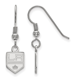 NHL Licensed Los Angeles Kings Dangle Earrings Sterling Silver