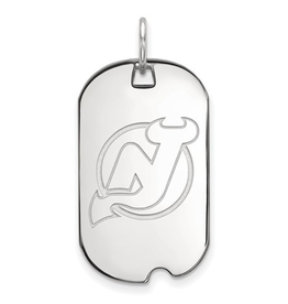 NHL Licensed New Jersey Devils Dog Tag Sterling Silver