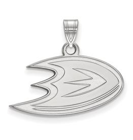 NHL Licensed Anaheim Ducks Pendant (24mm) Sterling Silver
