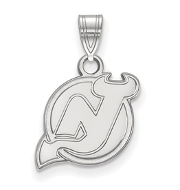 NHL Licensed New Jersey Devils Pendant (13mm) Sterling Silver