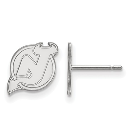 NHL Licensed New Jersey Devils Post Earrings Sterling Silver