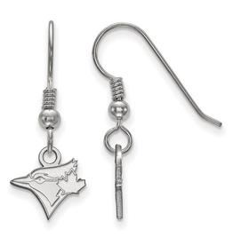 MLB Licensed Sterling Silver Rhodium Plated Toronto Blue Jays MLB Licensed Dangle Earrings