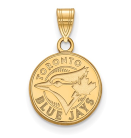 MLB Licensed Toronto Blue Jays (12mm) Pendant 10K Yellow Gold